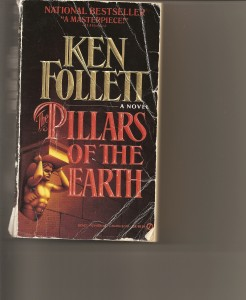My old beat up copy of Pillars of the Earth_Revisiting this book 15 years later I understand a whole lifetime more than I did the 1st time around!