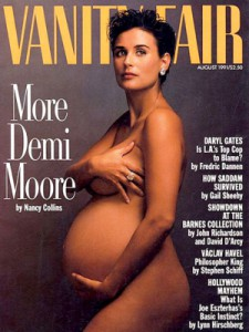 Demi Moore on the cover of Vanity Fair.