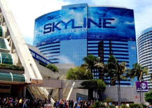 Skyline super mural at ComicCon 2010