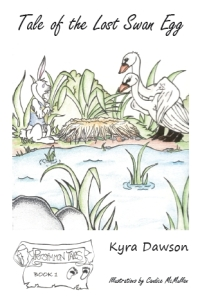 Tale of the Lost Swan Egg by Kyra Dawson Book 1 in the Persimmon Tales series for children.