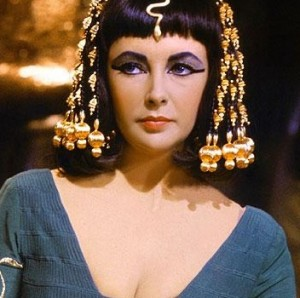 Elizabeth Taylor as infamous historical icon Cleopatra.