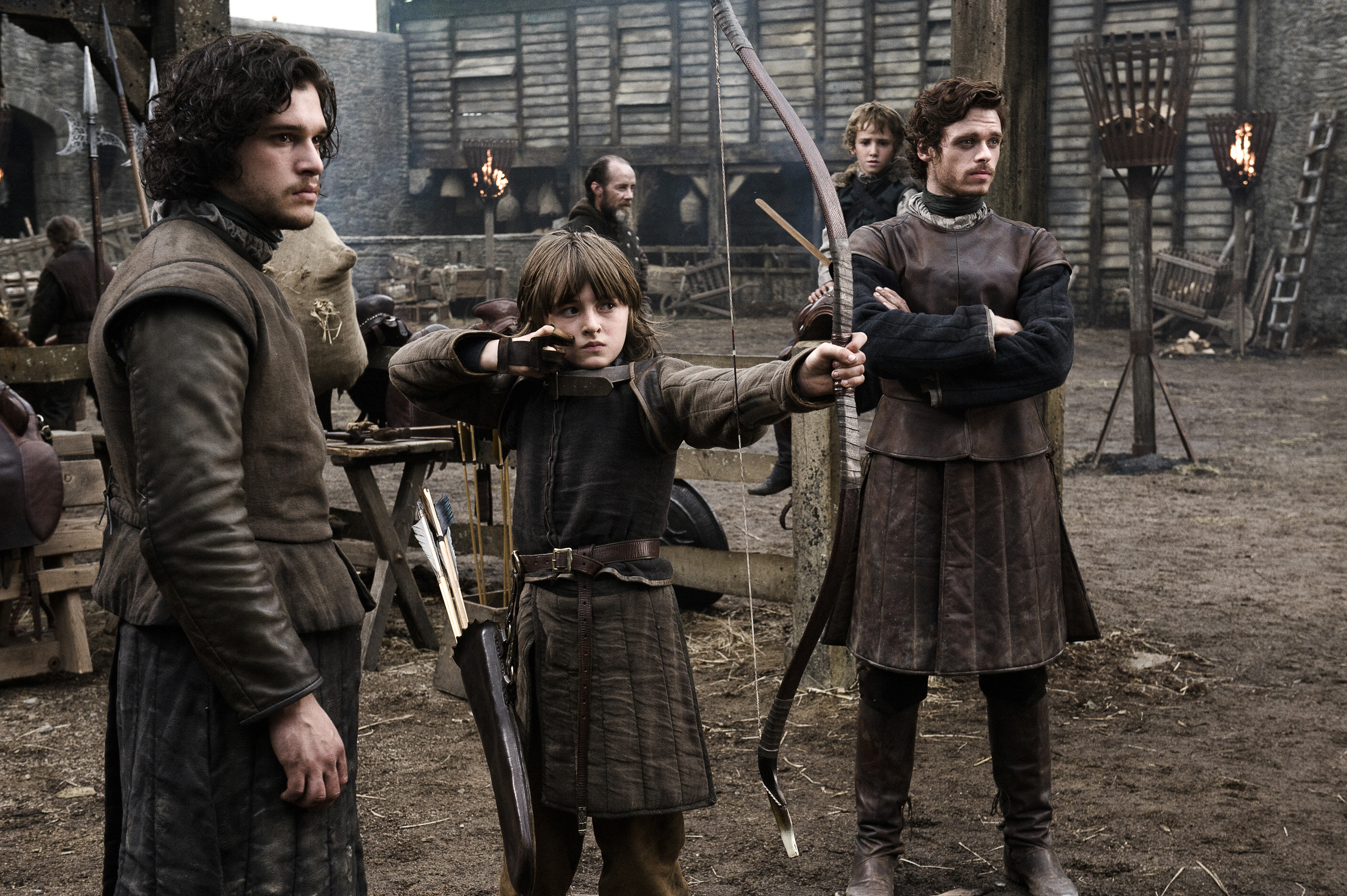 Jon snow, Bran Stark, and Robb Stark