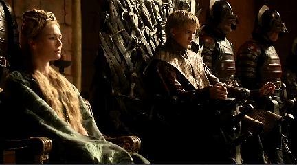 Joffrey on the Iron Throne.