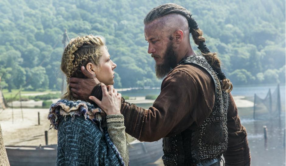 Lagertha-Katheryn-Winnick-and-Ragnar-Travis-Fimmel-in-History-Channels-Vikings